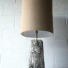 Large Vintage Ceramic Lamp & Shade 4