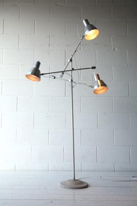 Vintage 3 arm floor lamp cream and chrome vintage 3 arm floor lamp 3 aloadofball Images