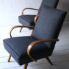 Pair of 1950s Beech Armchairs 1