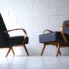 Pair of 1950s Beech Armchairs 2