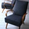 Pair of 1950s Beech Armchairs 3
