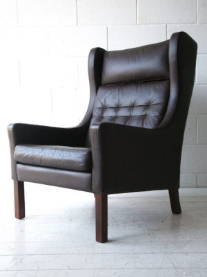 1960s Danish Leather Armchair 4