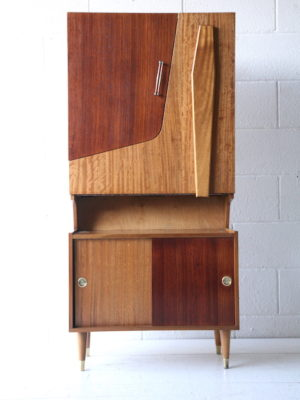 1960s Rosewood and Teak Cabinet