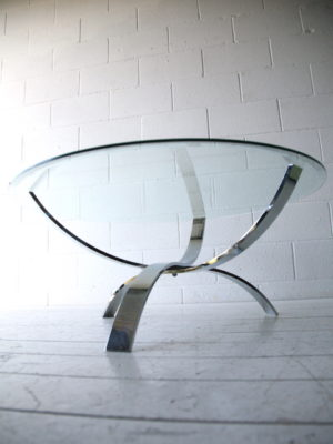 1970s Glass Chrome Table 3