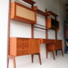 Vintage 1960s 'Ergo' Shelving System by Blindheim Mobelfabrik Norway Set 2 1