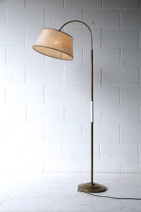 1950s Brass Floor Lamp