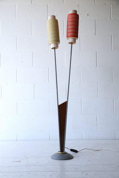 1950s Teak Double Floor Lamp 3