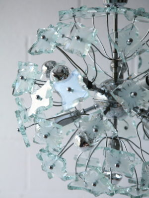 1960s Glass Chandelier 3