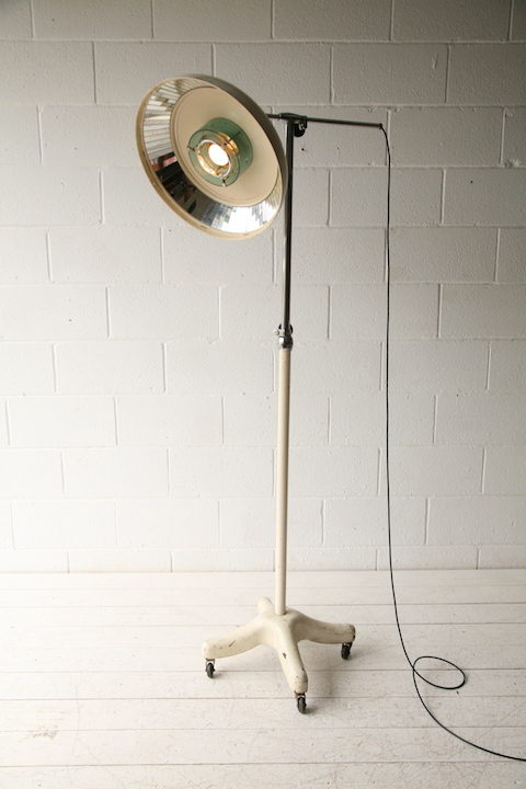 Large French Scialytique Medical Lamp