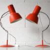 Pair of 1960s Orange Desk Lamps
