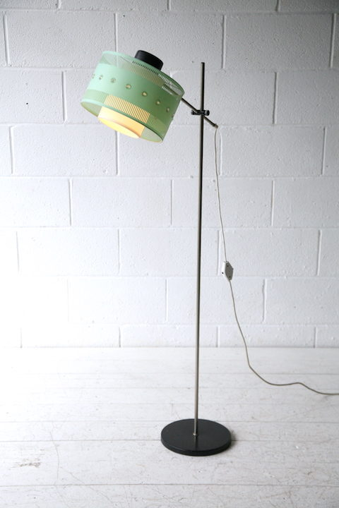 Vintage 1960s Floor Lamp and Shade 1