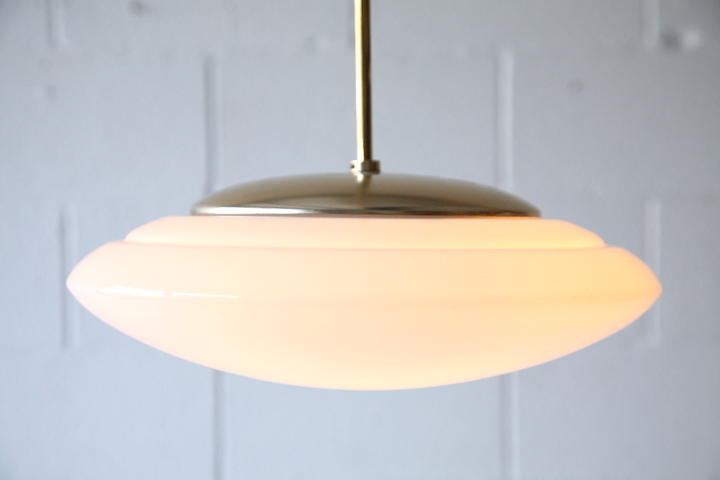 1950s Ceiling Light By Merchant Adventurers Cream And Chrome