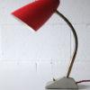 1950s Red Grey Desk Lamp 2