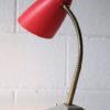 1950s Red Grey Desk Lamp 3