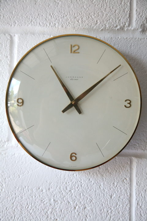 1960s Ato-mat Wall Clock by Junghams 1