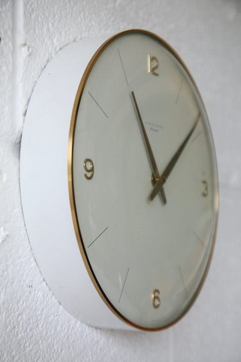 1960s Ato Mat Wall Clock By Junghams Cream And Chrome