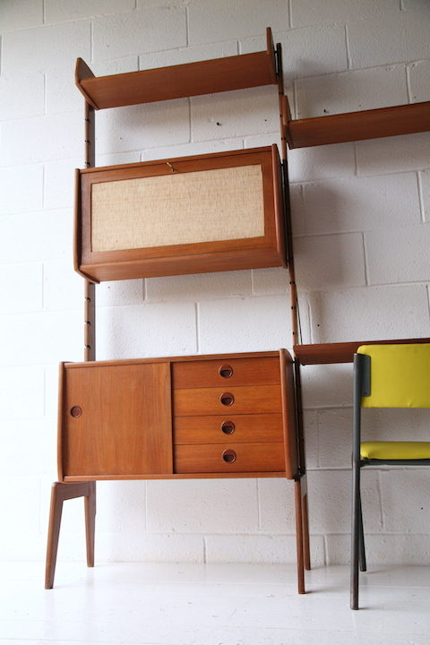 Large 1960s Teak Shelving Unit by Ergo Norway 7