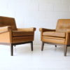 Pair of Danish Leather Armchairs by Skipper 1