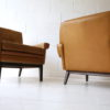 Pair of Danish Leather Armchairs by Skipper 2