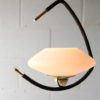 Vintage 1950s French Lunel Ceiling Light 4