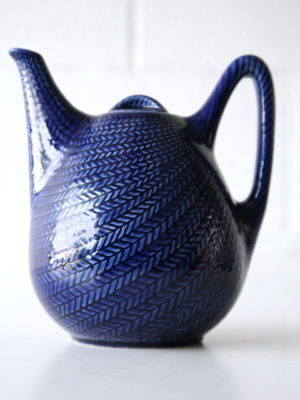 Vintage Rorstrand Bla Eld Teapot