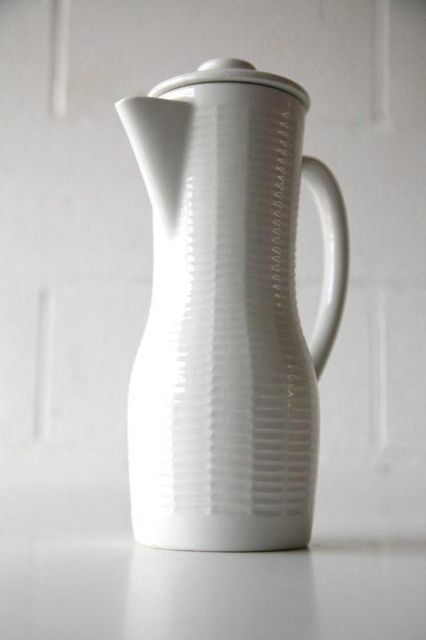 White Rorstrand Coffee Pot