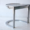 1970s Chrome and Smoked Glass Nest of Tables 2