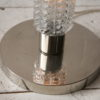 1970s Glass Floor Lamp with Floral Shade 3