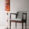 1970s Glass Floor Lamp with Floral Shade 4