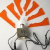 1970s Orange Plastic Wall Light 2