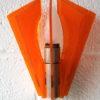 1970s Orange Plastic Wall Light 5