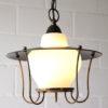 Black 1950s Lantern Ceiling Light