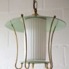 Green 1950s Lantern Ceiling Light 1