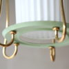 Green 1950s Lantern Ceiling Light 2