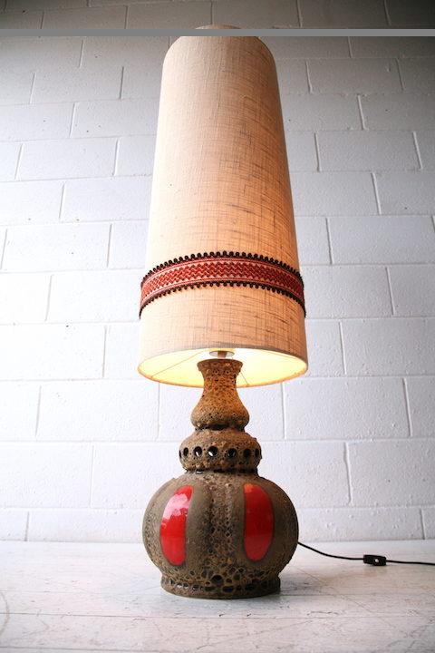 Large 1960s Fat Lava Floor Lamp