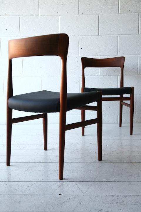 Pair Of 1960s Danish Chairs Cream And Chrome