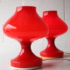 Pair of 1970s Glass Lamps 4