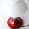 Red 1970s Glass Table Lamp 1
