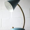 Small Blue 1950s Italian Lamp 2