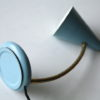 Small Blue 1950s Italian Lamp 3