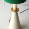Vintage 1960s Table Lamp with Green Shade 1