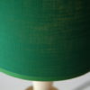Vintage 1960s Table Lamp with Green Shade 2