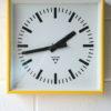 Vintage Yellow Pragotron Wall Clock 1