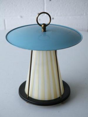 1950s Brass Glass Ceiling Light 4