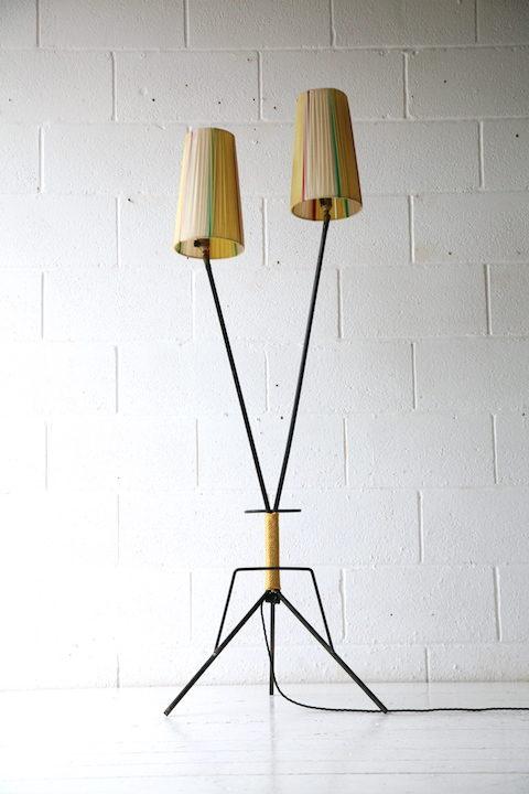 1950s French Double Floor Lamp 3
