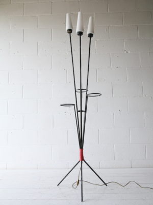 1950s Glass Triple Floor Lamp