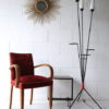 1950s Glass Triple Floor Lamp 5