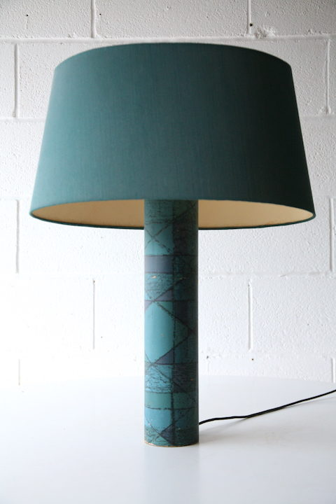 1960s Blue Table Lamp