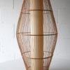 Large Vintage Wicker Ceiling Lamp