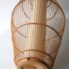 Large Vintage Wicker Ceiling Lamp 3